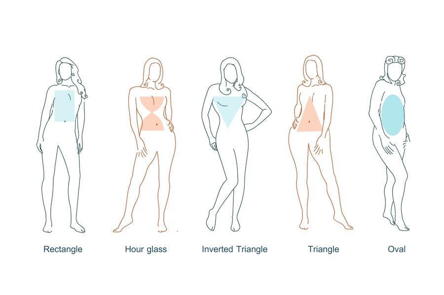 Penyertaan Peraduan #17 untuk Illustration Design for female body shapes/ types