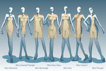 Illustration Design for female body shapes/ types için Graphic Design62 No.lu Yarışma Girdisi