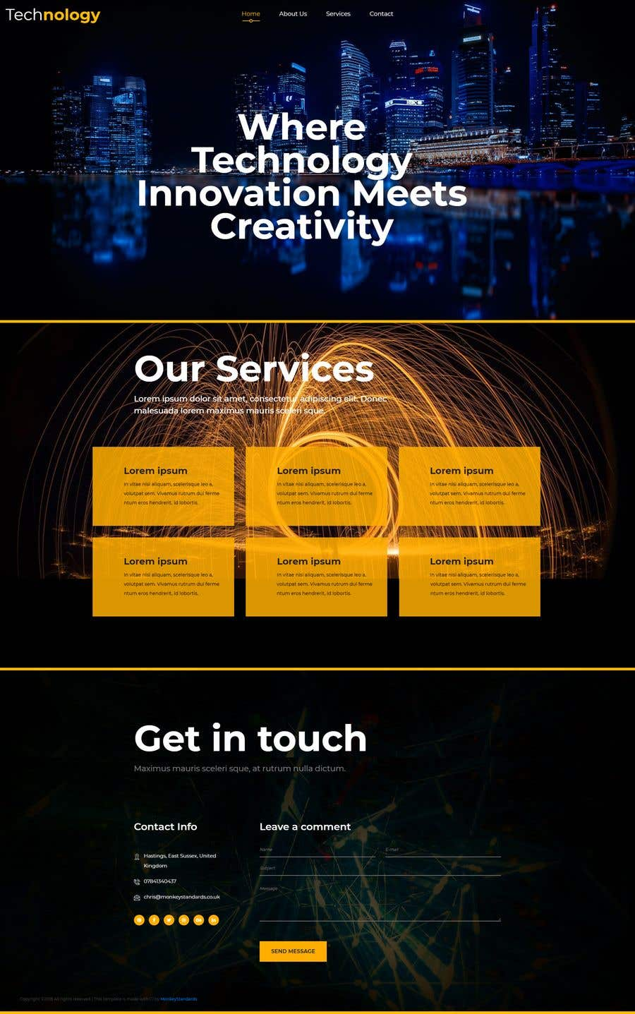 """Intrarea #5 pentru concursul """"Design smooth, elegant, luxurious, classy, sleek, BUT SIMPLE website for cutting edge technology consulting services. High tech, custom and special systems, futuristic technology company."""""""