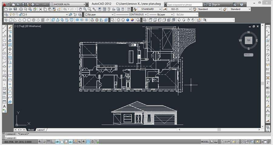 2d Home House Designs In Auto Cad