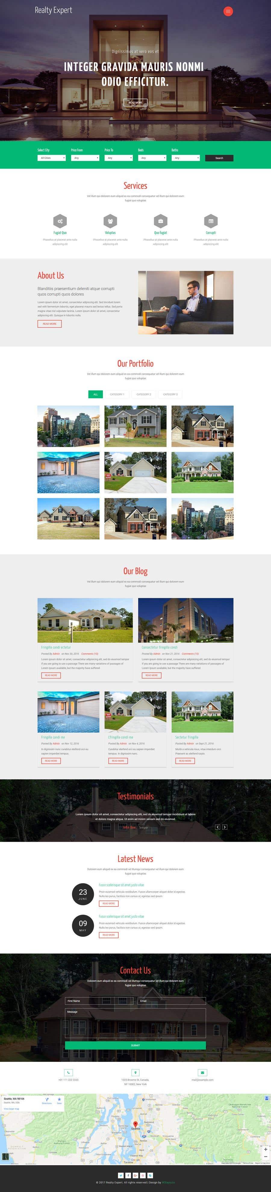 Contest Entry #21 for Real Estate Website Mock Up