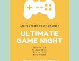 #8 para Game night invitations por chicville