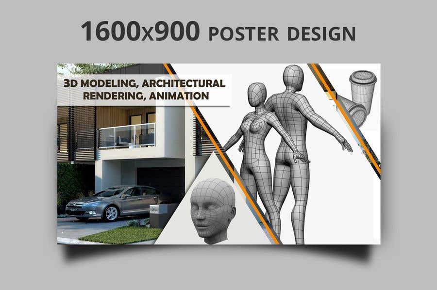 """Intrarea #15 pentru concursul """"1600x900 resoution graphic/poster design- 3D Theme"""""""
