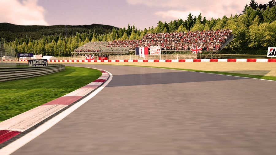 Entry #7 by sharkfreelancer for Build me a 3D Race Track Model for a