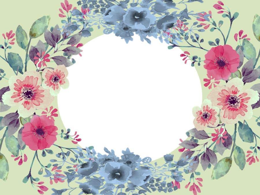 Entry 4 By Lealyeraldo For Dibujar Fondo Con Acuarela Y Flores Para