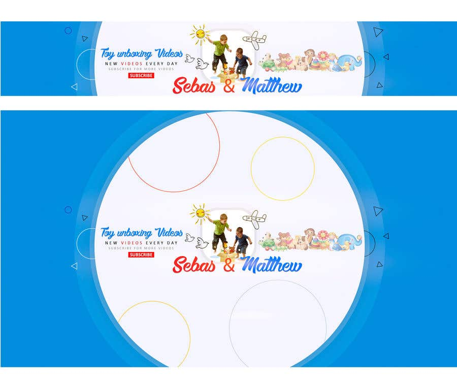 "Intrarea #10 pentru concursul ""Banner, Logo and ICON for YOUTUBE KIDS CHANNEL"""