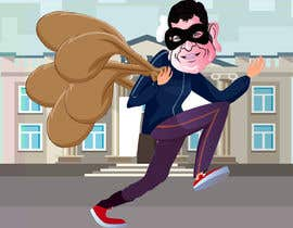 #16 для cartoon  image of thief wearing eyemask with many bags on his shoulder от SrDesign247
