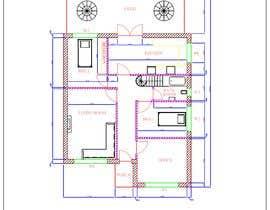 Nro 25 kilpailuun HOUSE PLAN DRAWN IN CAD käyttäjältä durgachitroju