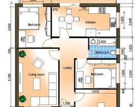 Nro 6 kilpailuun HOUSE PLAN DRAWN IN CAD käyttäjältä TMKennedy