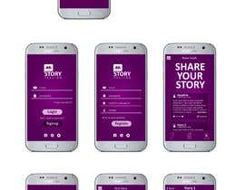 Nro 7 kilpailuun Create mockups for Story Telling Mobile App käyttäjältä DesignVibes4U