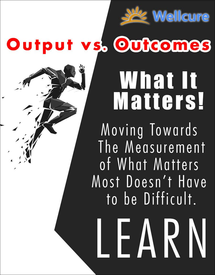 Contest Entry #6 for Design a social media poster on Output Vs Outcome