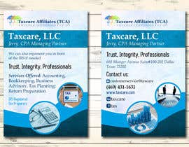 #10 для design double sided flyer - taxcare от andreschacon218