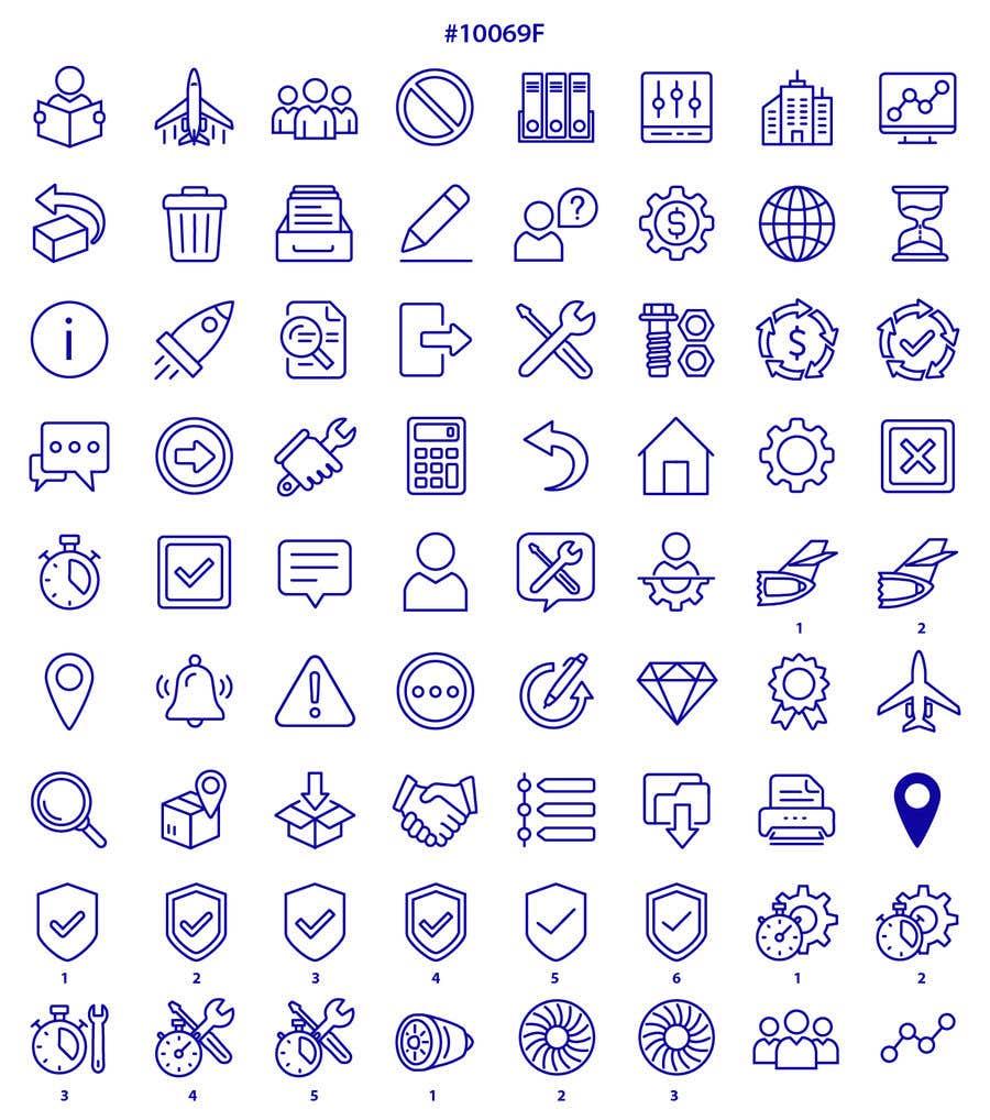 Kilpailutyö #37 kilpailussa Build me a new suite of Icons
