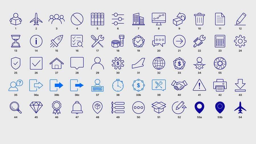 Kilpailutyö #39 kilpailussa Build me a new suite of Icons