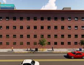 #25 for Create a 2d rendering front elevation of a building by Chrysalism92