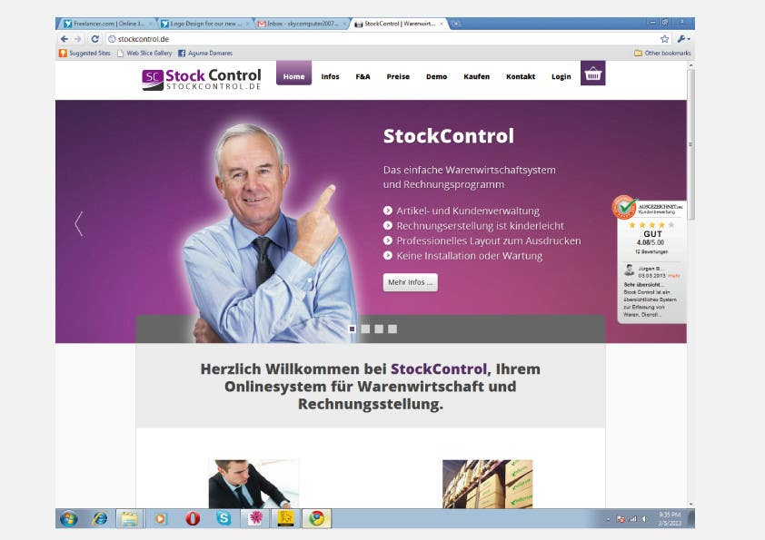 Konkurrenceindlæg #                                        7                                      for                                         Logo Design for our new service (StockControl)