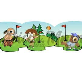 #11 for add some golf clothing to 3 cartoon characters af aliciamntn