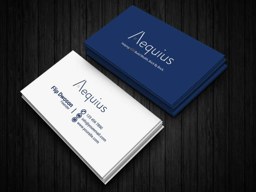 Penyertaan Peraduan #638 untuk Business Card Design
