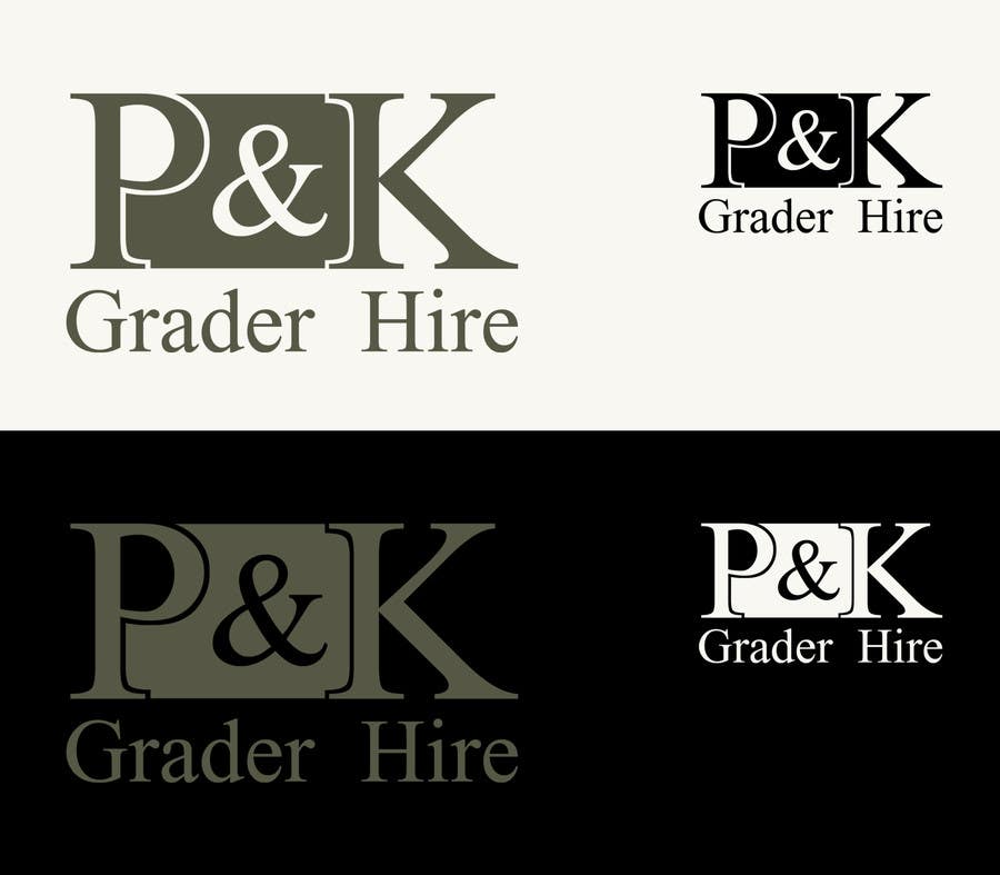 #2 for Logo Design for P & K Grader Hire by CGSaba