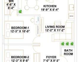 ssquaredesign님에 의한 Design a layout of a two bedroom flat, including furniture.을(를) 위한 #14