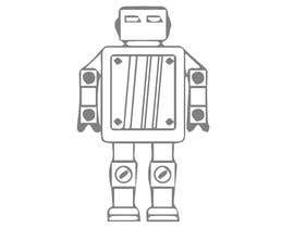 #41 for Design a simple robot icon (grey lines, 16x16px, 48x48px and 128x128) by Ariful222