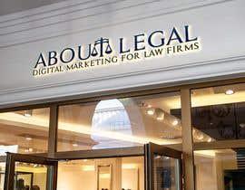 """#175 para Logo Design: """"AboutLegal"""" por Moulogodesigner"""
