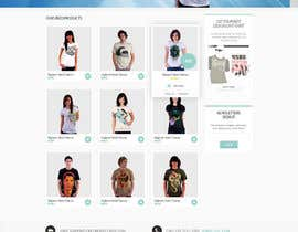 #1 untuk Website Design for T-shirt shop oleh dragnoir