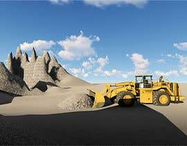 #1 untuk 3d animation of Large DOZER moving  a stock pile around on Mining  site oleh sathishleo5897