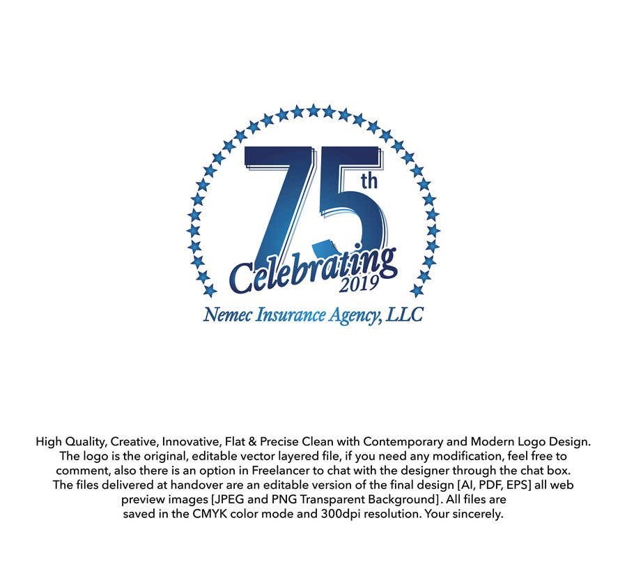 Contest Entry #25 for Revamped Logo Design - Celebrating our 75th Anniversary
