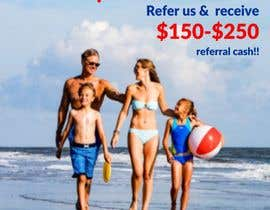 """#47 for (size 8-1/2""""x 11"""") I want an ad with a beach scene that says something like: """"Saving up for that beach vacation? Let us help! Refer us and receive $150-$250 referral cash!!"""" With company logo attached. af ConceptGRAPHIC"""