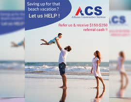 """#18 for (size 8-1/2""""x 11"""") I want an ad with a beach scene that says something like: """"Saving up for that beach vacation? Let us help! Refer us and receive $150-$250 referral cash!!"""" With company logo attached. af maruf1921"""