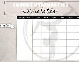 Nro 17 kilpailuun Design a timetable käyttäjältä lilyliver