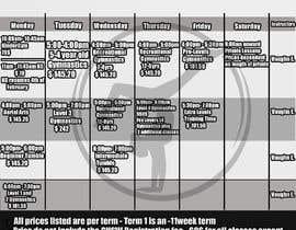 Nro 20 kilpailuun Design a timetable käyttäjältä IPucket