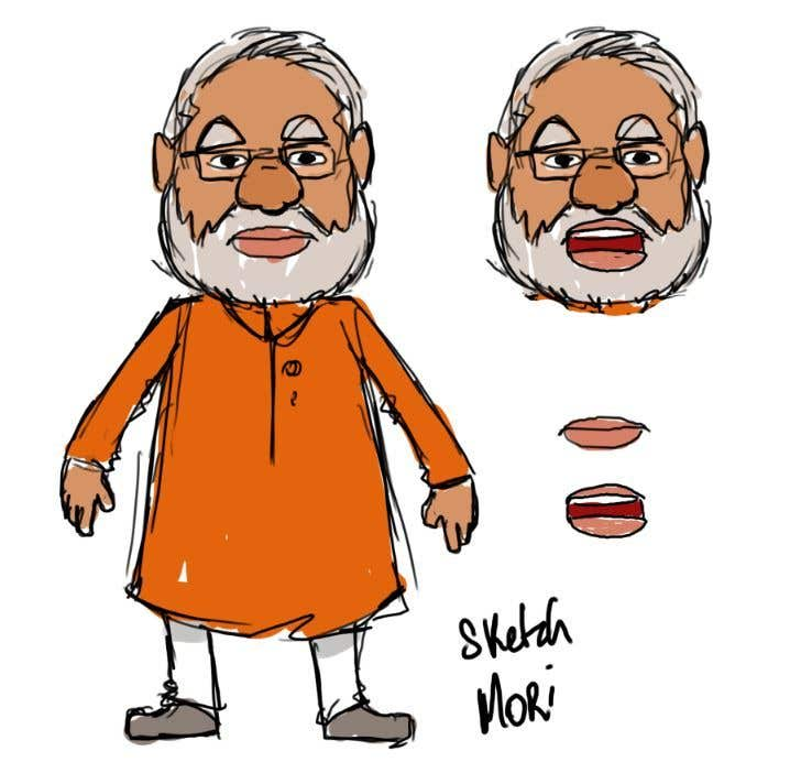 Entry #3 by marcelmori for Character Drawing of Narendra