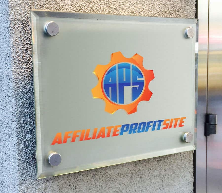"Intrarea #132 pentru concursul ""I'm putting together a site called: affiliateprofitsite. I would like a logo similar to the examples attached. I want it easy to read, clean, modern and the color scheme should consist of blue, orange, black and white or the Clickfunnels colors lol."""