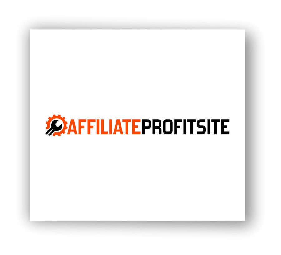 "Intrarea #110 pentru concursul ""I'm putting together a site called: affiliateprofitsite. I would like a logo similar to the examples attached. I want it easy to read, clean, modern and the color scheme should consist of blue, orange, black and white or the Clickfunnels colors lol."""