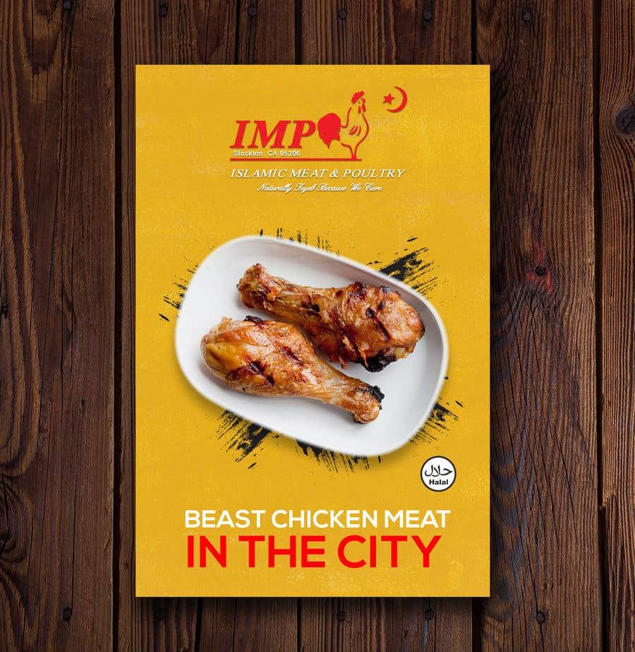 Kilpailutyö #152 kilpailussa Create a poster advertising chicken meat