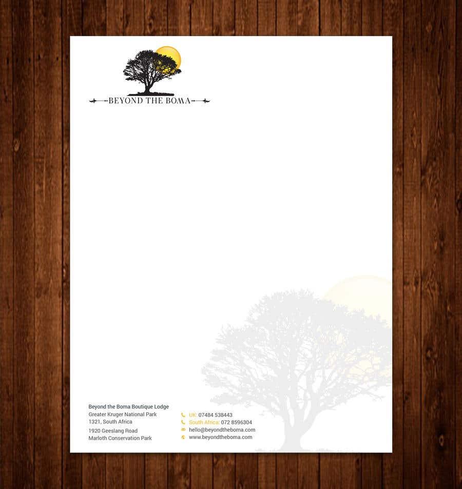 Kilpailutyö #54 kilpailussa Letterhead design
