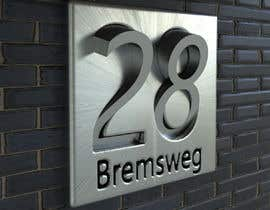 nº 315 pour Design a House number plate from stainless steel and glass par daniellassche