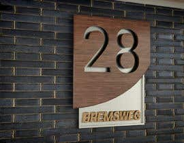 nº 322 pour Design a House number plate from stainless steel and glass par daniellassche