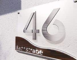 nº 284 pour Design a House number plate from stainless steel and glass par jairandresrmz