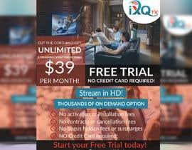 "Kajol2322 tarafından Design a single sided 4"" X 6"" Flyer for TV Streaming Service için no 24"