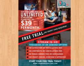 """habibabinteaziz tarafından Design a single sided 4"""" X 6"""" Flyer for TV Streaming Service için no 46"""