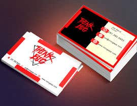 nº 77 pour design double sided business cards - THINK BIG par zahidulislamsing
