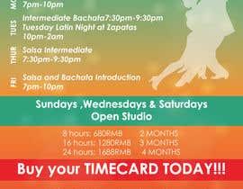 #22 pentru Make a weekly schedule for a dance studio de către reshmaguptanag