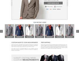 mughikrish tarafından Website Design for Magento Ecommerce Site - Mens custom clothing için no 14