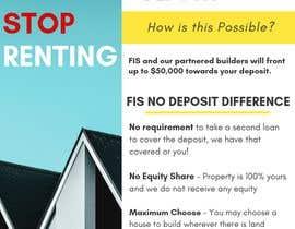 Nro 118 kilpailuun Create a flyer - No Deposit Homes käyttäjältä rababq
