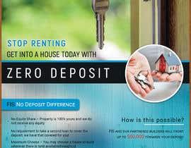 Nro 109 kilpailuun Create a flyer - No Deposit Homes käyttäjältä AKAzad007
