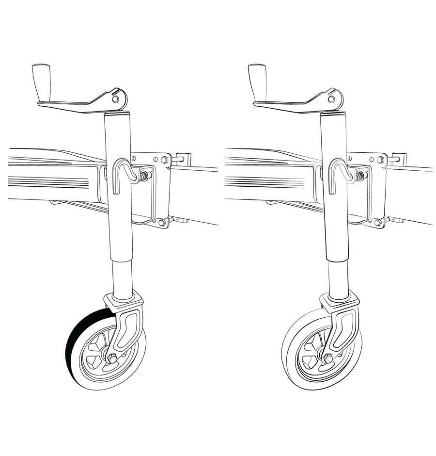Contest Entry #19 for Line Drawing of Jockey Wheel