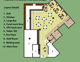 #3 za Restaurant floor plan od shahidullah79